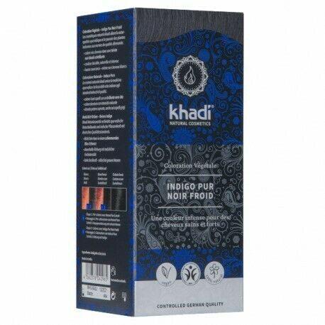 Khadi : Indigo Pur Noir Froid
