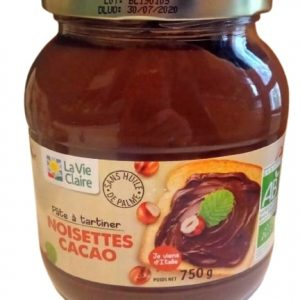Pâte à tartiner - Noisettes Cacao sans huile de palme