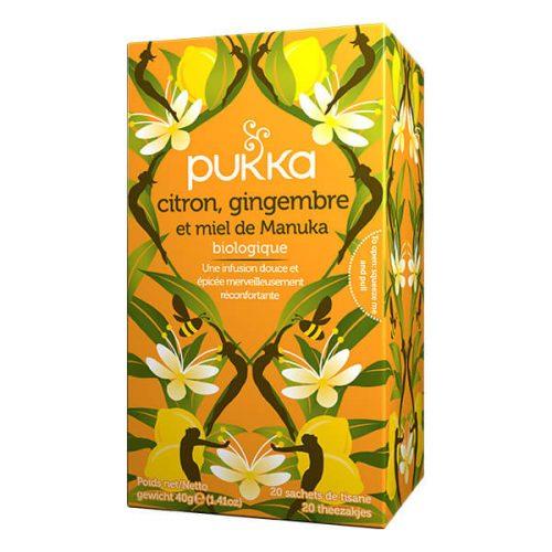 Thé Pukka citron, gingembre et manuka bio